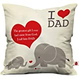 Indigifts Micro Satin and Fibre Cushion Cover with Filler (White, 12x12-inch)