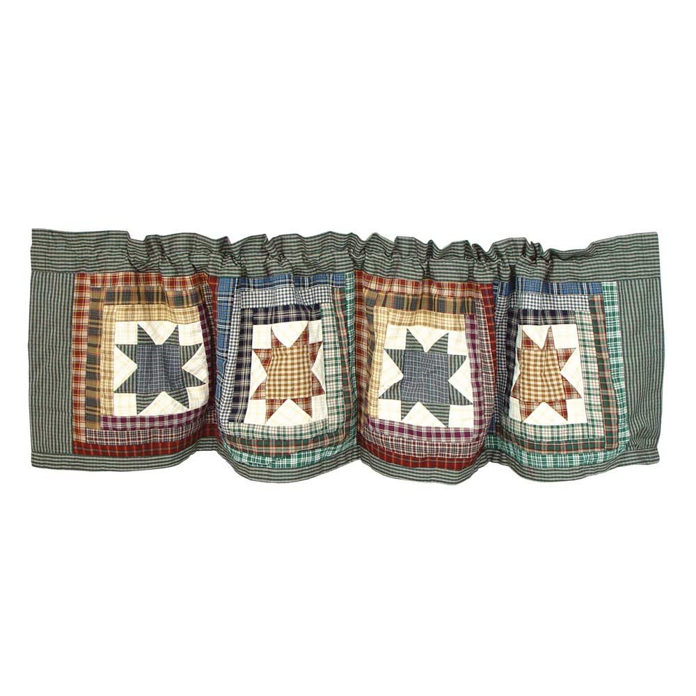 Patch Magic Cottage Star Rustic Valance Window Treatments
