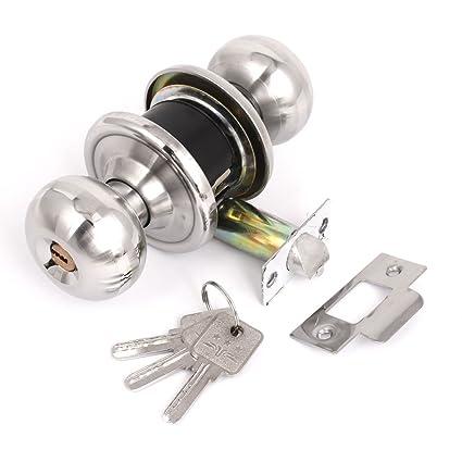 La puerta redonda Perilla de la manija de bloqueo de teclas de entrada bloqueo de la
