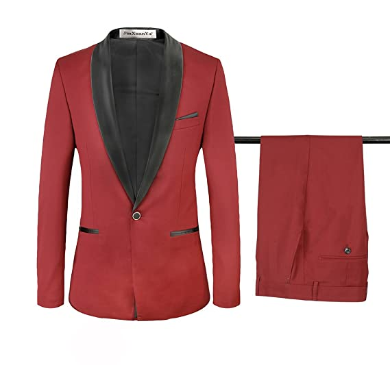 Jinxuanya Business Casual Two Piece Wedding Reception Mens Suit At