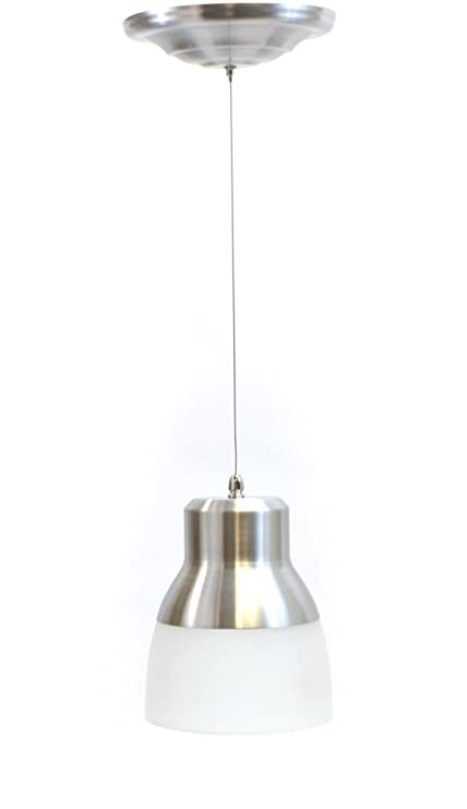 Exciting Lighting 002778 Ceiling Mount Battery Operated Led Pendant With Remote Brushed Nickel