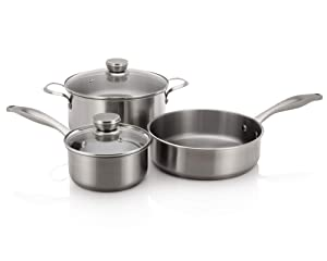 Frigidaire 5304513525 5-Piece Stainless Steel Induction Ready Cookware Set