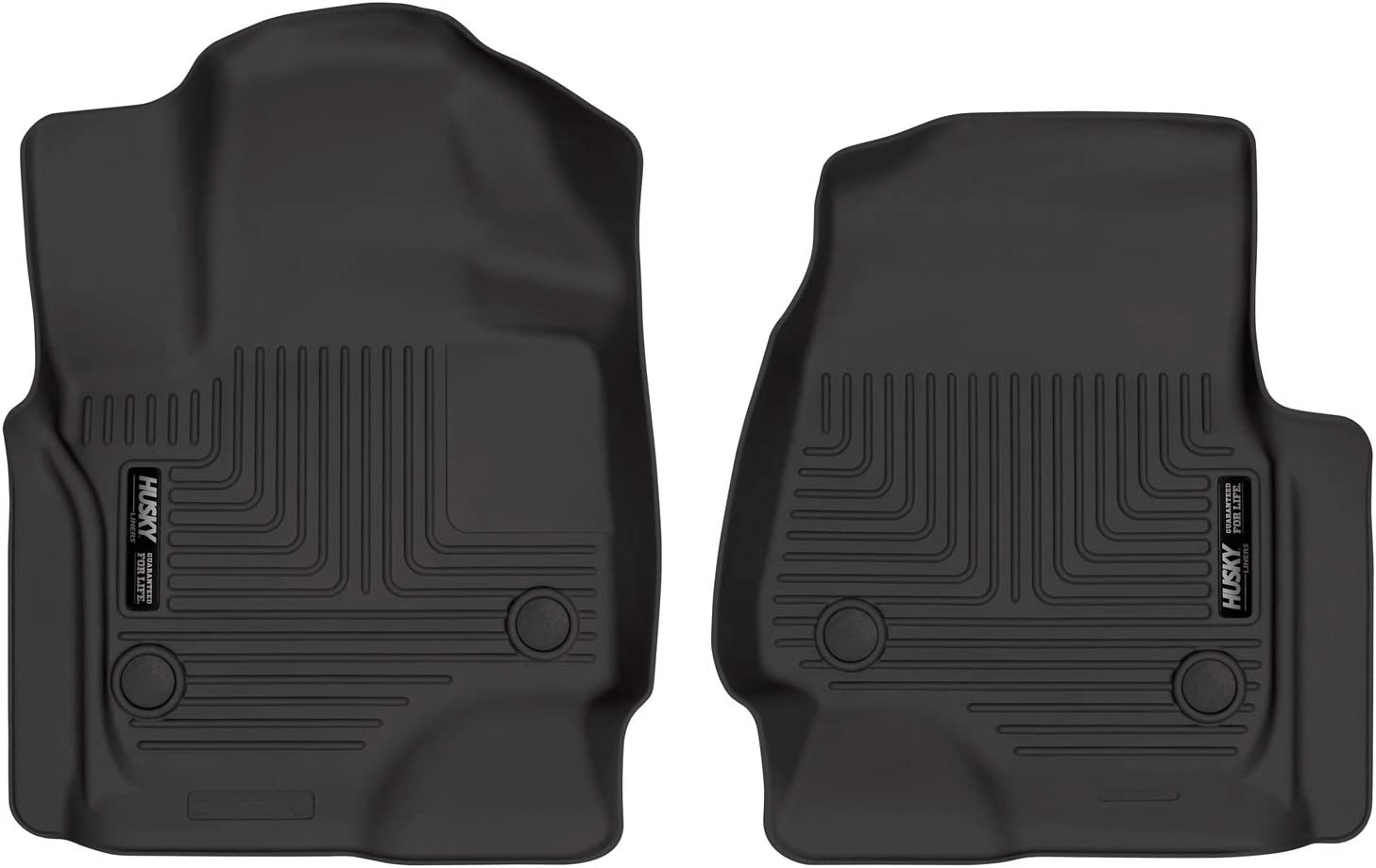Husky Liners 13341 Fits 2018-19 Ford Expedition Weatherbeater Front Floor Mats,Black