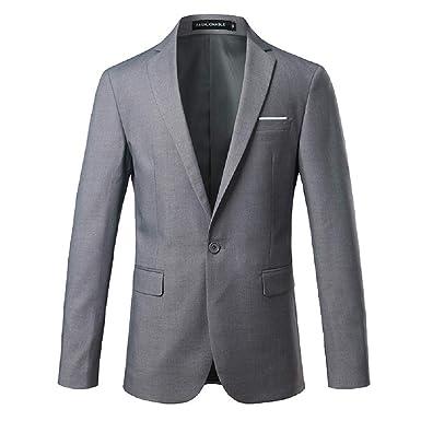 Fuxitoggo Traje de Hombre Slim Fit Traje de Novio Vestido de ...