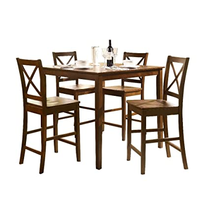 ACME 07550 5 Piece Martha Counter Height Dining Set, Espresso Finish