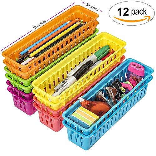 Prextex Classroom Pencil Organizer Pencil Basket or Crayon Basket