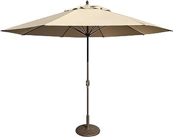 Tropishade 11' Umbrella with Premium Beige Olefin Cover