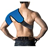 Hot / Cold Therapy SHOULDER Wrap - CE CERTIFIED & FDA APPROVED + 100% MONEY BACK GUARANTEE. Relieve Pain & Soreness + Decrease Swelling! Larger Coverage Area PLUS Convenient Adjustable Wrap!