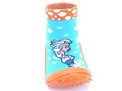 Baby Girl Socks With Rubber Soles For Improved Traction For Age