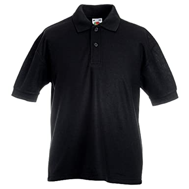 ba4db07a80ec Fruit of the Loom Childrens Polo Shirts Boys Girls School Uniform 65 35 Polo  New  Amazon.co.uk  Clothing