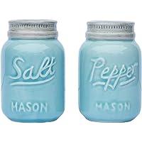 Vintage Mason Jar Salt & Pepper Shakers by Comfify - Adorable Decorative Mason Jar Décor for Vintage, Rustic, Shabby…