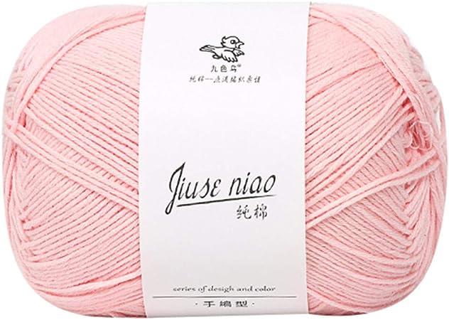 Lana para tejer de algodón – hilo de algodón de nueve colores, lana para tejer a mano, para bebé, para bufanda artesanal: Amazon.es: Hogar