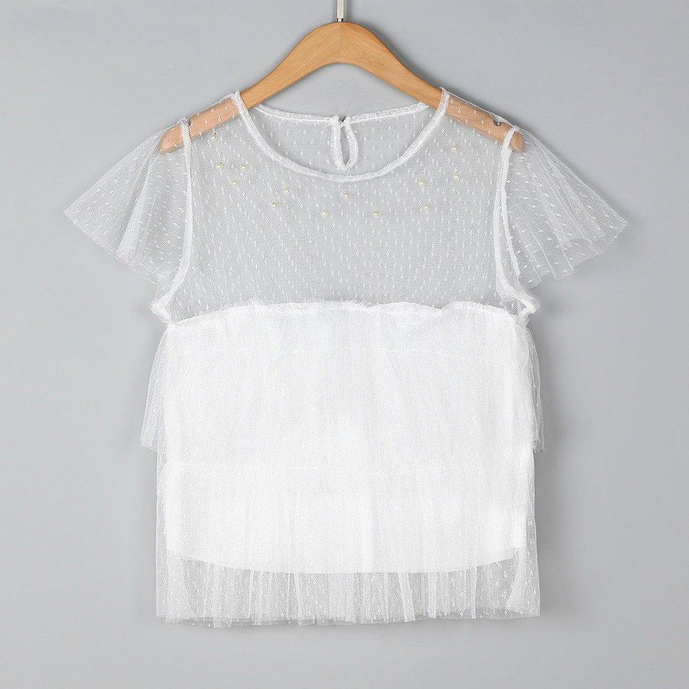 Yesmile Camiseta de Mujer Tops Suelto Blusa Causal Camisetas Ocasionales Blusa Negra de la Malla Tops de los Deportes Camiseta Superior de la Aptitud del ...