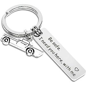 Amazon com: Boyfriend Gifts Drive Safe Keychain I Need You