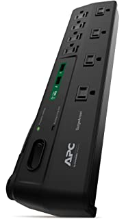 APC 8 Oultet Surge Protector 2630 Joules With USB Charger Ports,  SurgeArrest Home/