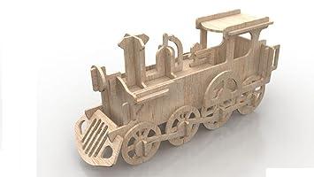 Impressiona Tren, maqueta de Madera Cortada a Láser ...