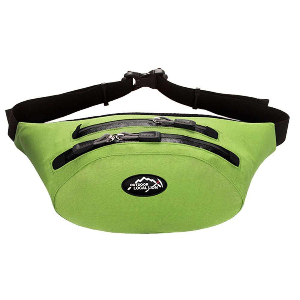 Meanhoo Extreme Waterproof Fanny Pack for unisex with -Zipper Pockets, Water Bottle Holder and Cell Phone Pouch - Fanny Pack for Hiking Cycling Climbing Travel - Green by Meanhoo
