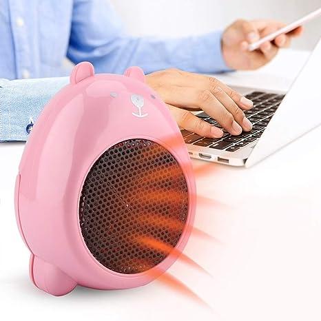 Termoventilatore da tavolo elettrico portatile da ufficio invernale da 220V Colore : Bianca