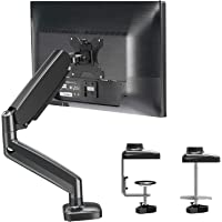 MOUNTUP Single Monitor Desk Mount - Adjustable Gas Spring Monitor Arm, VESA Mount with C Clamp, Grommet Mounting Base…