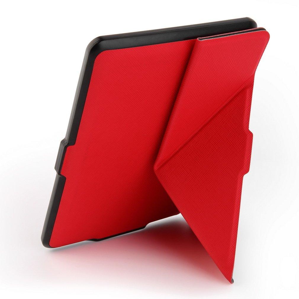 Tsing Funda Kindle Paperwhite  Nuevo Kindle Cierre Magnético Ligera Delgada Rojo