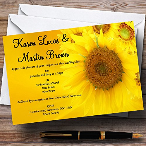 Sunflowers Personalized Wedding Invitations