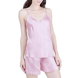 OSCAR ROSSA Women's Luxury Silk Sleepwear 100% Silk Pajamas Set