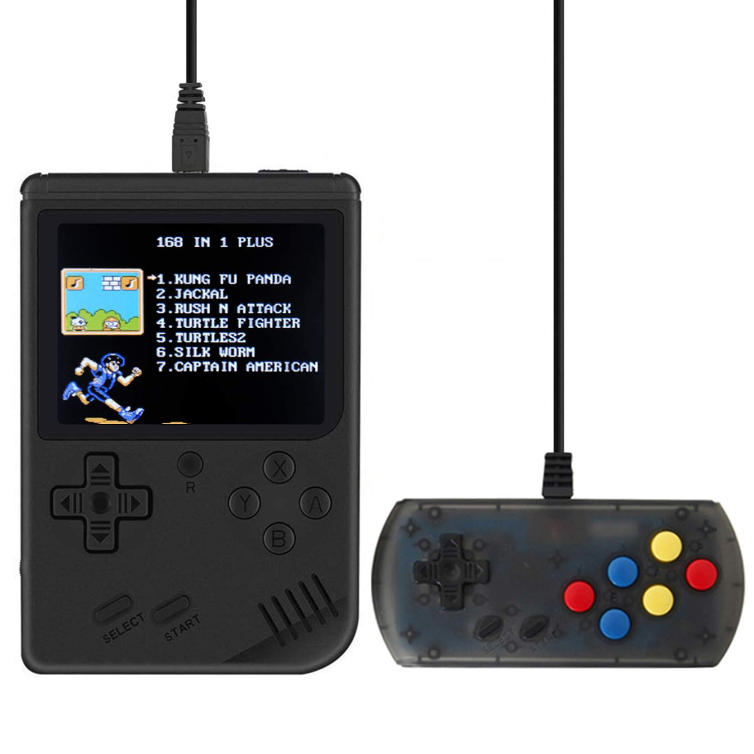 MyArTool Retro FC Handheld Game Console, Built-in Up to 168 8bit Classic Games 3 Inch LCD Screen Portable Video Game Consoles Synchronize with TV and Support for Two Players by MyArTool (Image #1)
