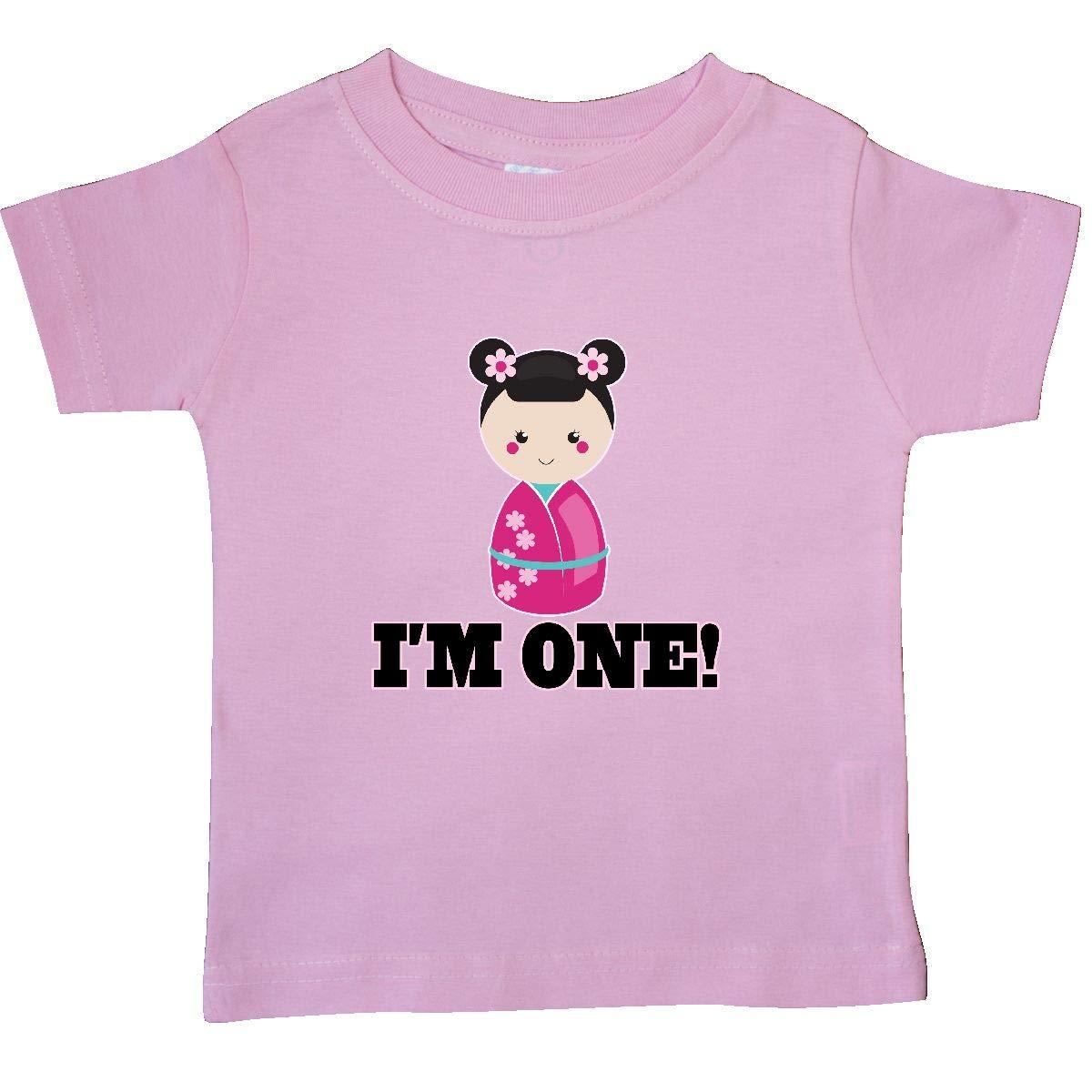 inktastic 1st Birthday Kokeshi Girl Doll Baby T-Shirt