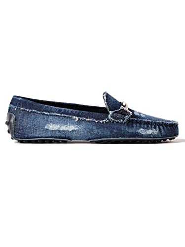 1847a2f90ae Amazon.com | Tod's Women's XXW00G0X890IUB0ZYS Blue Denim Loafers | Loafers  & Slip-Ons