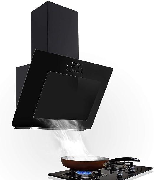 Topstrong Hotte Aspirante Inclinee 60cm 350 M H Hotte De Cusine Silencieuse Hotte Noir Décorative Verre Inox éclairage Led Recyclage Ou Evacuation Amazon Fr Gros électroménager