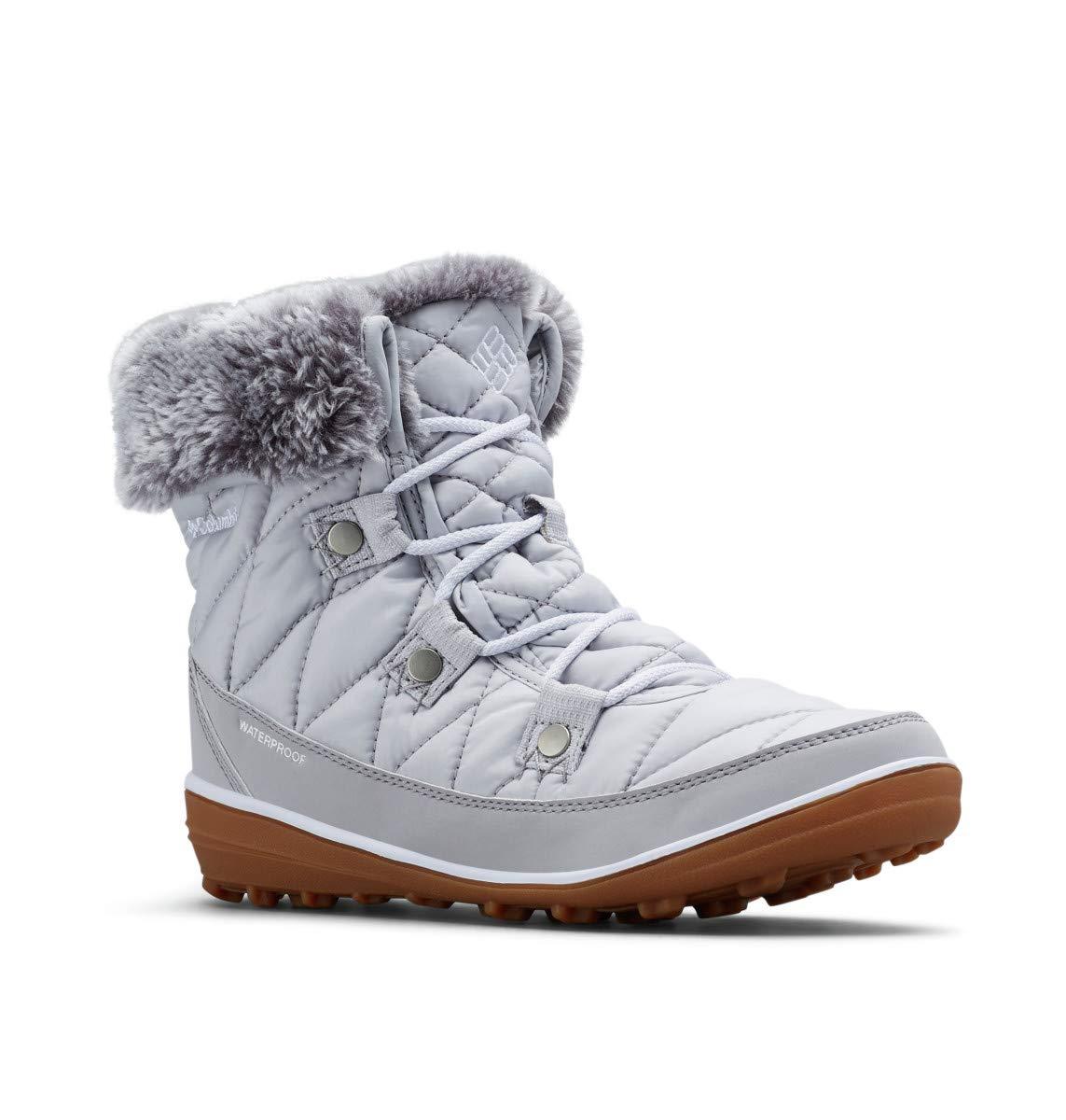 Columbia Women's Heavenly Shorty Omni-Heat Snow Boot, Grey ice, White, 9 Regular US by Columbia