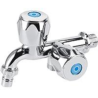 VIFERR Tap Water Filter, Gemakkelijk te installeren ABS Wasmachine Kraan wastafel Water Tap met Dubbele Tuit &Handvat G1…