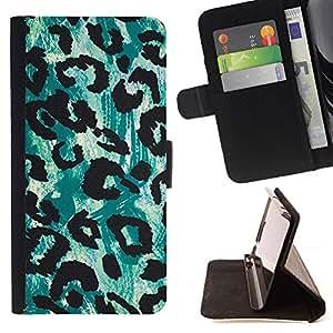 Momo Phone Case / Flip Funda de Cuero Case Cover - Patrón de arte Acuarela verde Piel - Samsung ALPHA G850