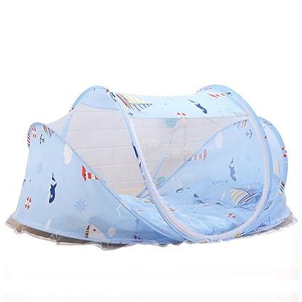 Cama bebé plegable portátil Mosquitero Tienda Colchones Cuna Dosel con cojín outdoor & Music Pack 0