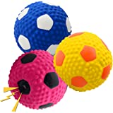 """Wieppo Soft Squeaky Dog Ball 2.56"""", Latex Squeaky Dog Toys for Medium Dogs and Small Dogs 3pcs"""
