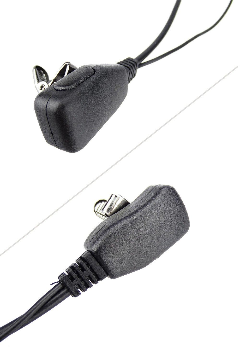 XFox 2Pin Advanced D Shape Clip-Ear PTT Headset Earpiece Mic for Motorola 2 Way Radios GP88S GP300 GP68 GP2000 GP88 GP3188 CP040 CP1200 A8 A6 A10 A12 Walkie Talkies(2Pack) by XFOX (Image #6)