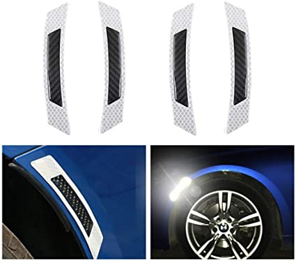 Bike Bicycle Reflective Red White Front Back Reflector Kit Set 2 PC Protective