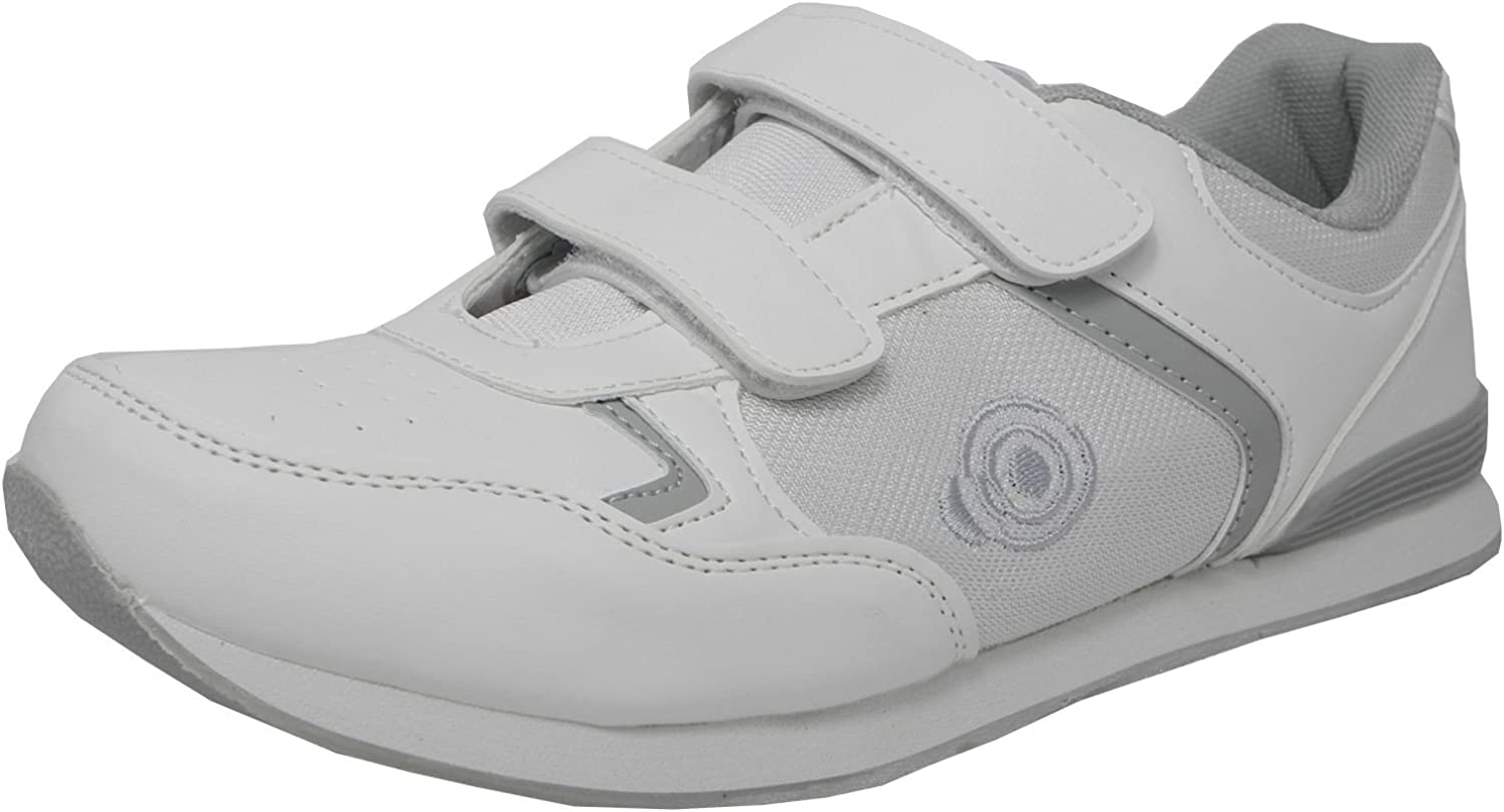 trainers flat sole lightweight velcro bowls shoes bowling