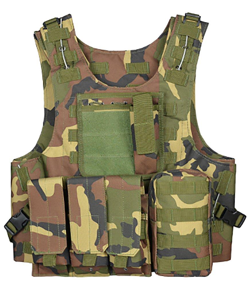 ThreeH Chaleco táctico Equipo militar modular Chaleco protector de juegos de campo para la caza SA0502D