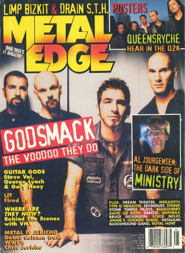 Metal Edge Magazine January 2000 Godsmack, Queensryche, Ministry