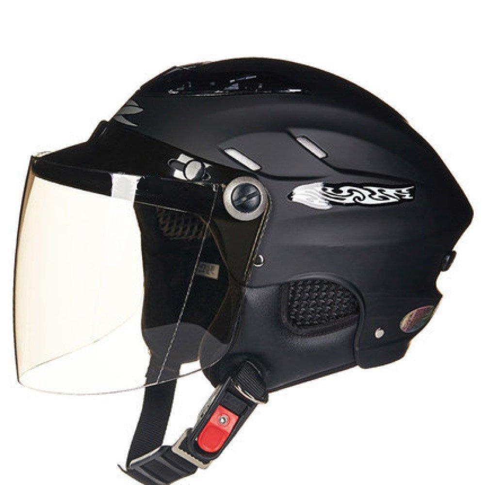 RAQ Sturzhelm im Freienart- und weisehelm ABS-Leichtgewichtler-Motorrad-Fahrrad-Sturzhelm-Sonnenschutzsicherheitsatmungsaktiver vierjahreszeiten-Sturzhelm (Farbe   H, größe   OneGröße)