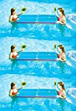 3 New Swimline 9164 Swimming Pool Floating Ping Pong Table Tennis Game w/Paddles