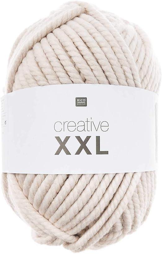 Rico Creative XXL Mega Lana Beige, 1 kg: Amazon.es: Juguetes y juegos