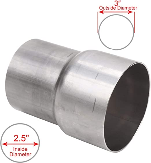 """3/"""" OD Exhaust 2 Holes 1//2/"""" 304 Stainless Steel FLANGE Pipe Piping Cat-Back"""