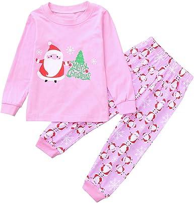 K-youth Ropa Bebe Niño Invierno Navidad Ofertas Infantil Recien Nacido Niña Otoño Camisetas Blusas Bebe Niña Moda Papá Noel Pijamas Camisa + Rayas Pantalones Conjuntos De Ropa Bautizo: Amazon.es: Ropa y accesorios