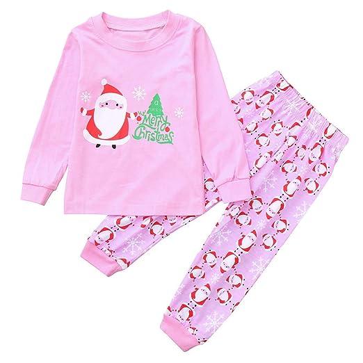 b5421c9280 Amazon.com  AMSKY Christmas Outfit Set Children Kids Cartoon Letter ...