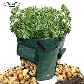Amazon.com: YAOBAO 15 Gallon Potato bolsas de cultivo, olla ...