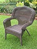 Wicker Resin/Steel Outdoor Patio Chair – Set of 2 (Antique Pecan) Review