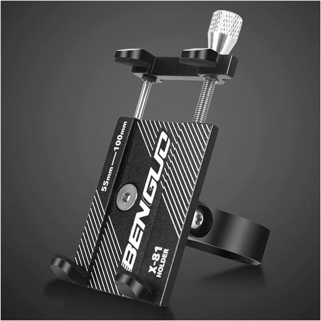 LLguz Phone Holder,360 Degree Rotation High-Strength Clamping Phones Stand Smartphones Bracket Cell Mobile Telephone Mount Clamp for Motorcycle Electric Car Bike 20-30MM Handlebar