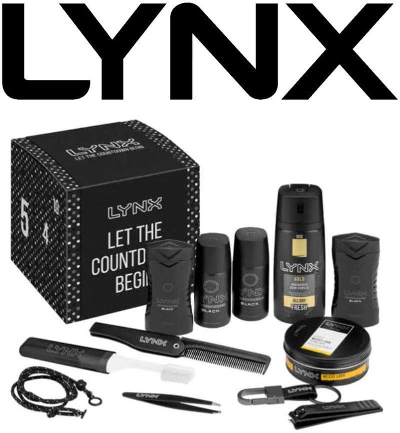 Lynx Calendrier de lAvent 2019 Cadeau de No/ël pour homme